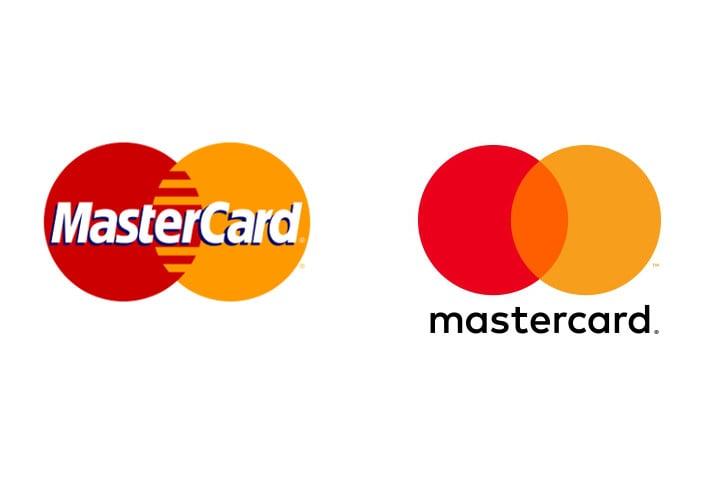 โลโก้เก่าและโลโก้ใหม่ของ MasterCard