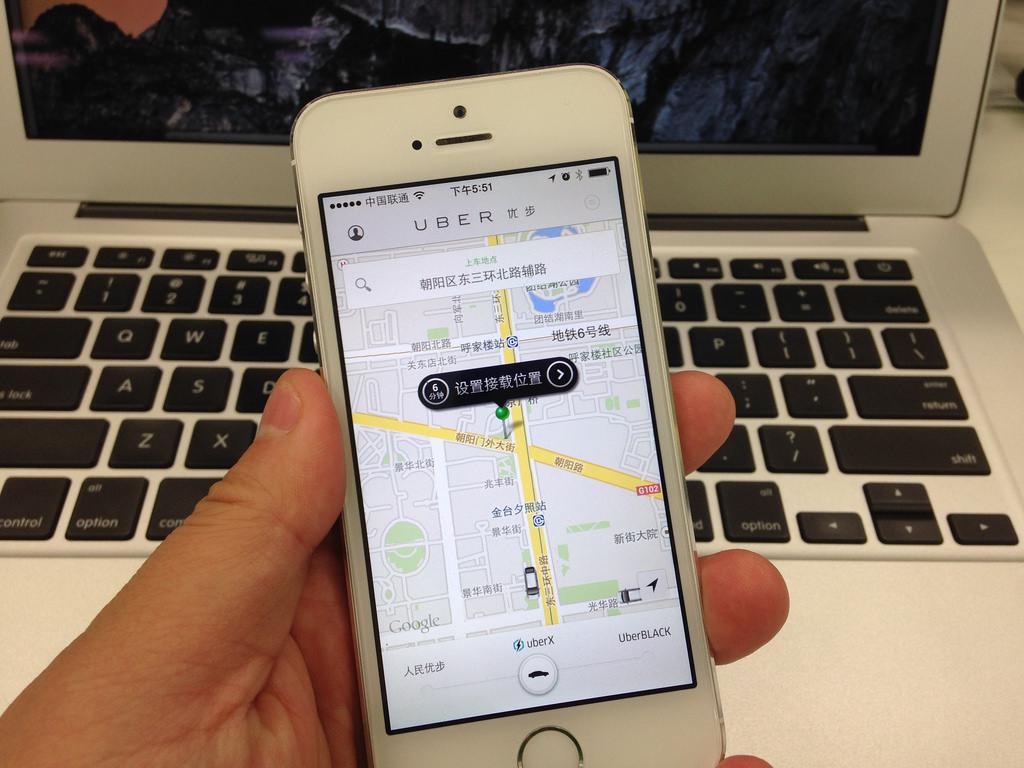 แอพ Uber ในประเทศจีน (ภาพ Flickr : bfishadow)