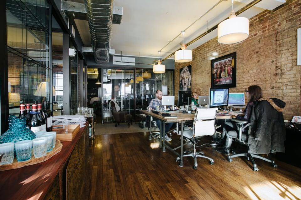ภาพสำนักงานของ WeWork ผู้ให้บริการ co-working space ในต่างประเทศ