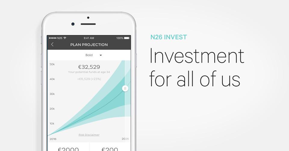 หน้าตาแอพการลงทุนของ N26 Invest