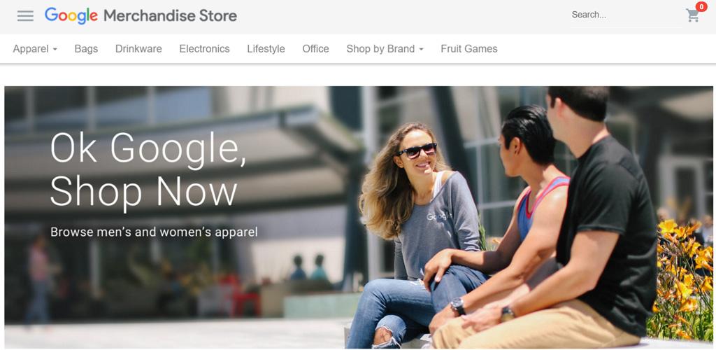 เว็บ Google Merchandise Store ร้านขายของที่ระลึกจาก Google