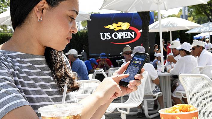 IBM at US Open in Flushing, NY Thursday, August 25, 2016. (Jon Simon/Feature Photo Service for IBM)