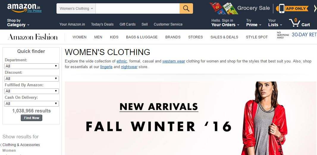 Amazon India อีกหนึ่งเว็บที่ Amazon ทุ่มสุดตัวปั้นให้เกิดให้ได้