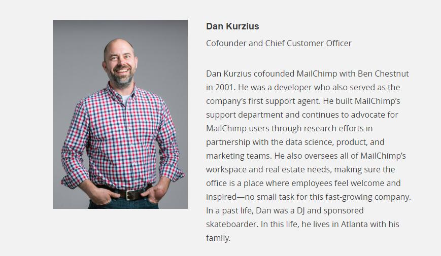 Dan Kurzius หนึ่งในผู้ก่อตั้ง MailChimp