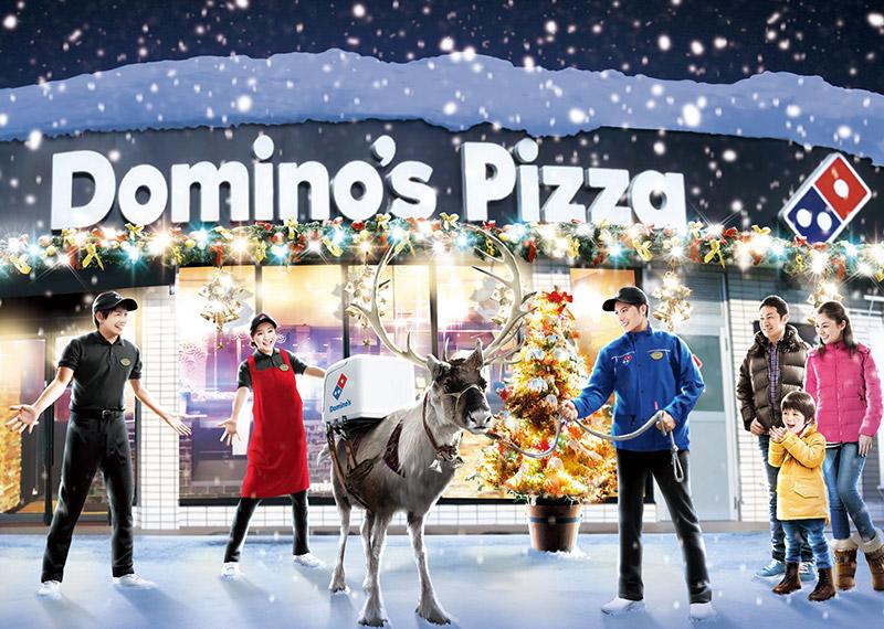 Domino's Pizza ญี่ปุ่น เล่นกิมมิคใหม่ ส่งพิซซ่าฤดูหนาวด้วยกวางเรนเดียร์
