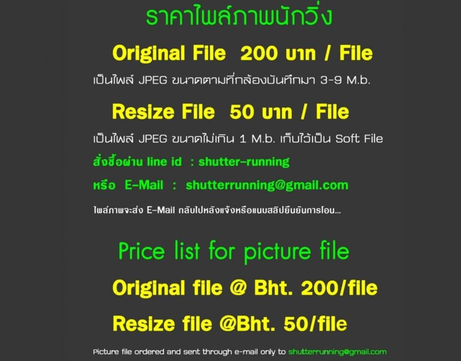 ตัวอย่างราคารูปบนเว็บไซต์ shutterrunning.com