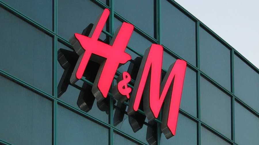 H&M logo brand building