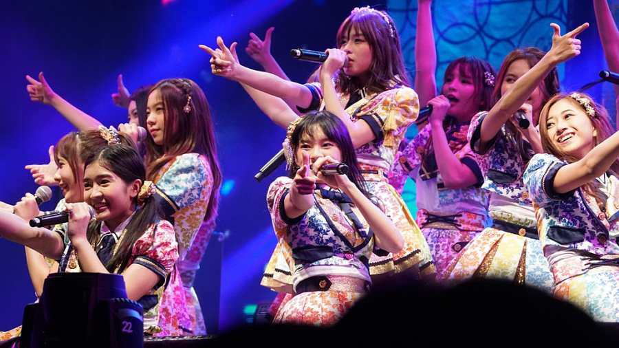 BNK48 on stage in Thailand