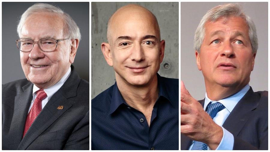 Warren Buffett Jeff Bezos Jamie Dimon