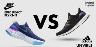 Nike React สีน้ำเงิน และ Adidas Ultra Boost สีดำ