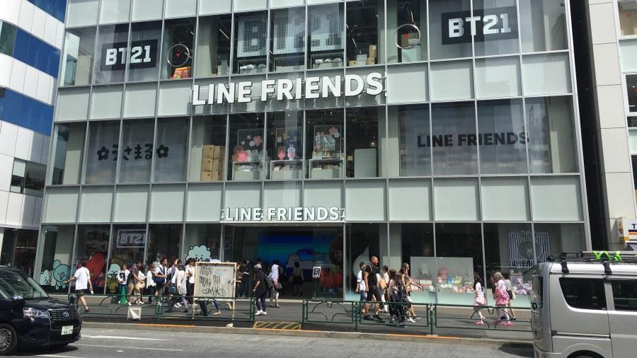 LINE FRIENDS Shop แห่งใหม่ในฮาราจูกุ ประเทศญี่ปุ่น