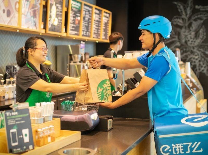 Ele.me ในนามของ Alibaba จับมือ Starbucks