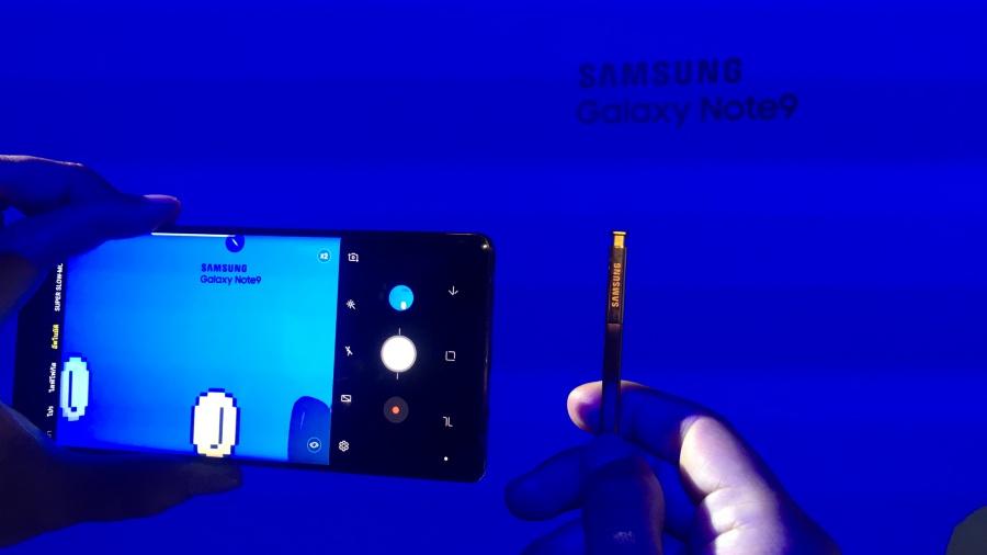 ทดลองถ่ายรูปผ่าน S Pen ใหม่ในSamsung Galaxy Note9