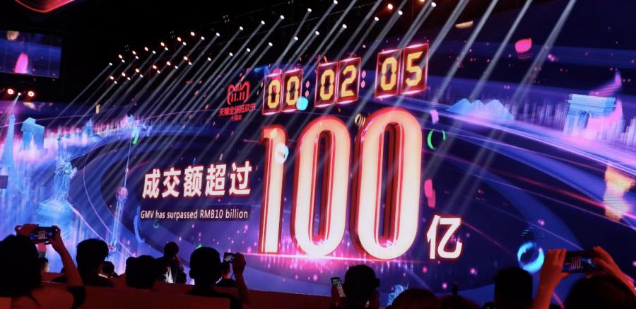 2 นาทีแรก Alibaba ทำยอดขายรวมในเทศกาล 11.11 ไปถึง 1 หมื่นล้านหยวน