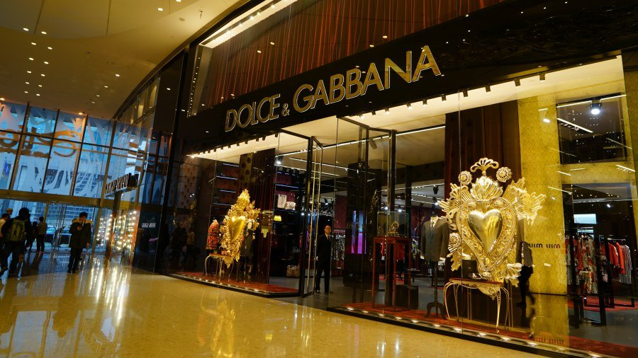 หน้าร้านของแบรนด์ D&G ในประเทศจีน