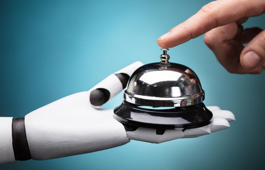 หุ่นยนต์ โรงแรม การบริการ