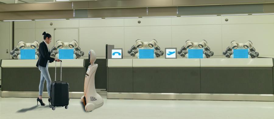หุ่นยนต์ให้บริการในโรงแรม