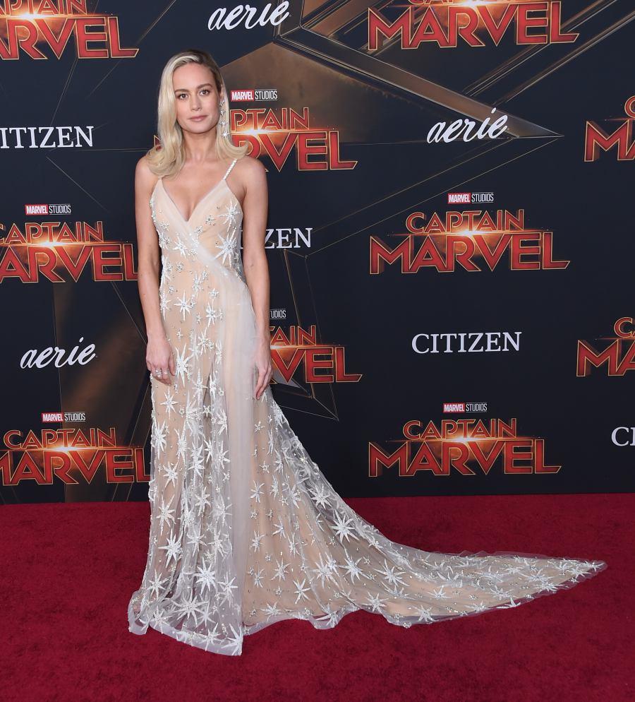 Brie Larson ที่รับบทเป็น Captain Marvel Photo: Shutterstock