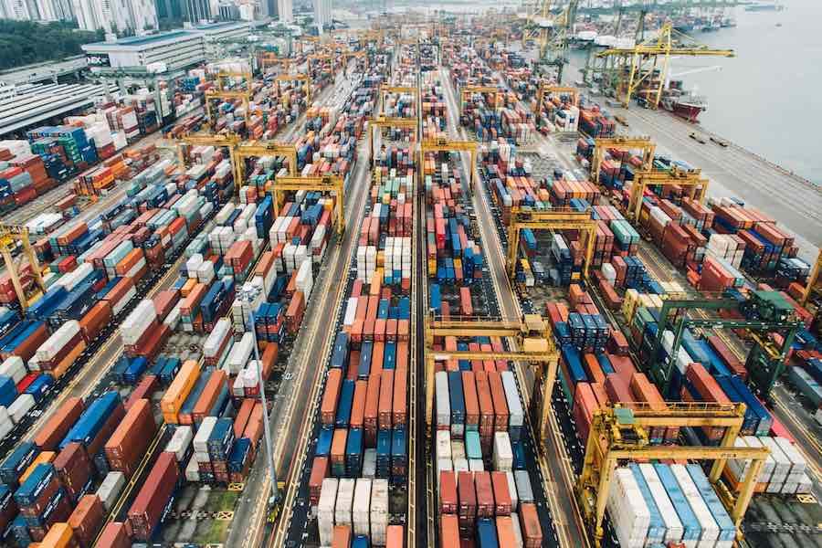 Container Port Shipping ส่งออกสินค้า การค้า
