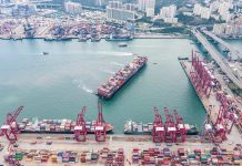 Hong Kong Port Containers