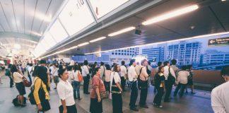 Bangkok BTS People Queue