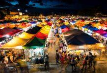 Bangkok Night Market People