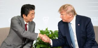 Shinzo Abe Donald Trump G-7 France 2019
