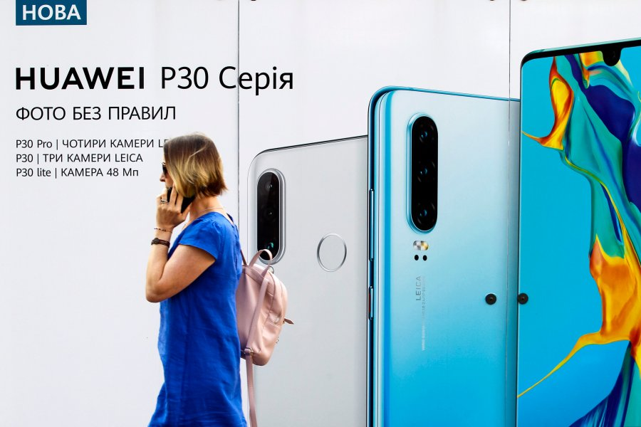 Huawei Advertise at Ukraine
