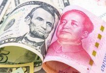 US dollar Yuan หยวน ดออลาร์