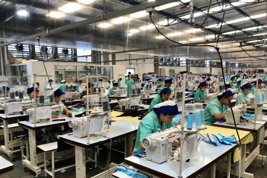 Cambodia garment factory โรงงานกัมพูชา
