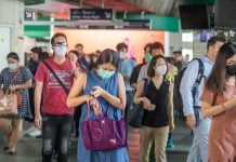 Bangkok Thailand People Face Masks Coronavirus