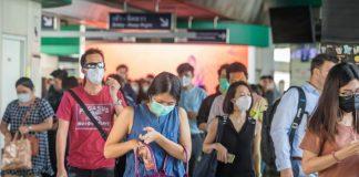 Bangkok Thailand People Face Masks Coronavirus