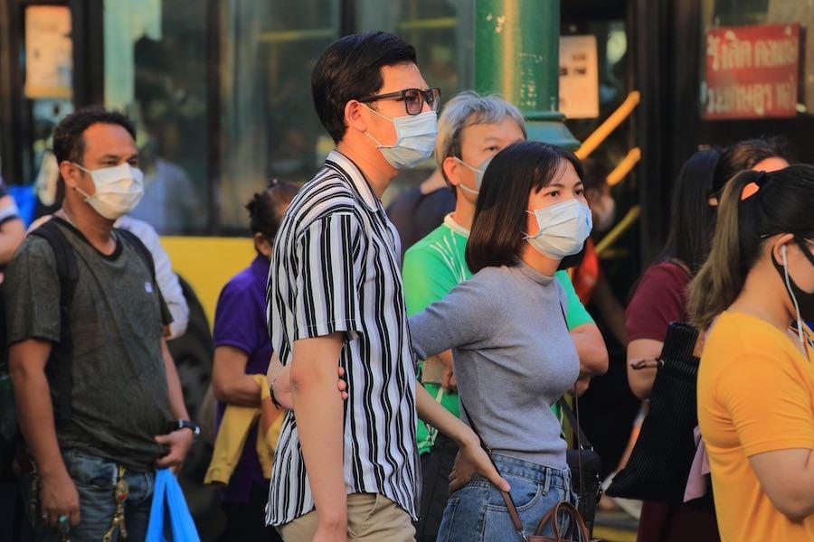Thai People wear face masks