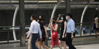 Bangkok People Face Masks COVID-19
