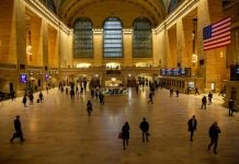 New York USA Central Station COVID-19