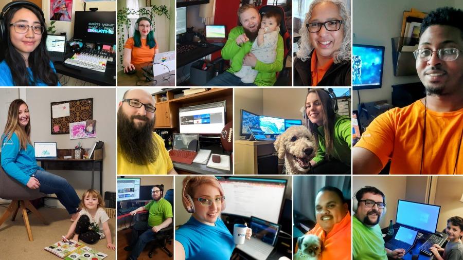 พนักงาน Microsoft ที่ปกติทำงานหน้าร้าน แต่วันนี้ต้องให้บริการลูกค้าออนไลน์ด้วยการ Work From Home
