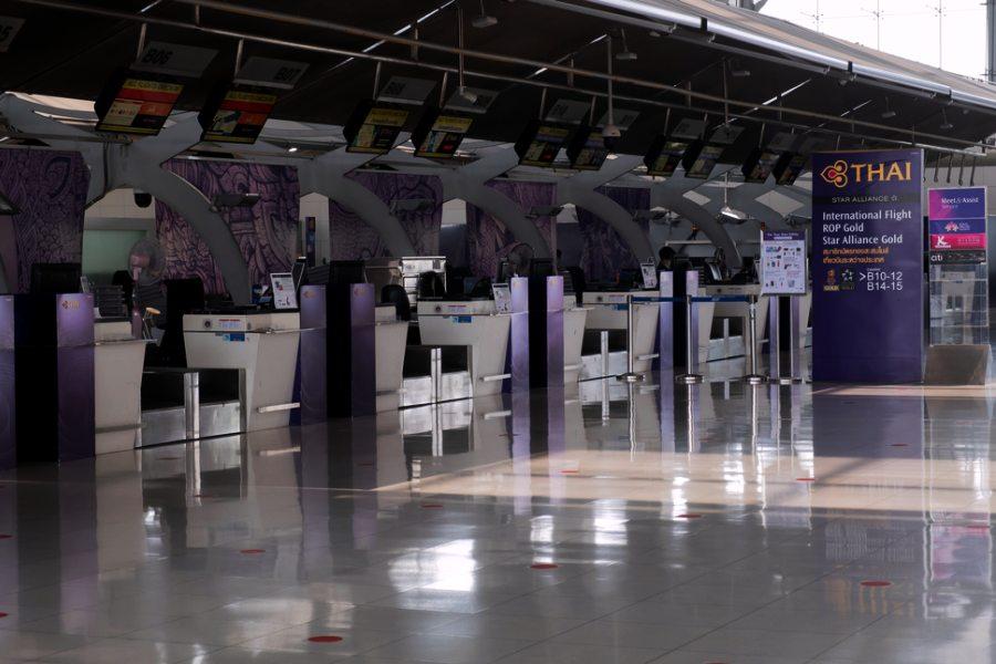 การบินไทย สนามบินสุวรรณภูมิ Thai Airways Booth