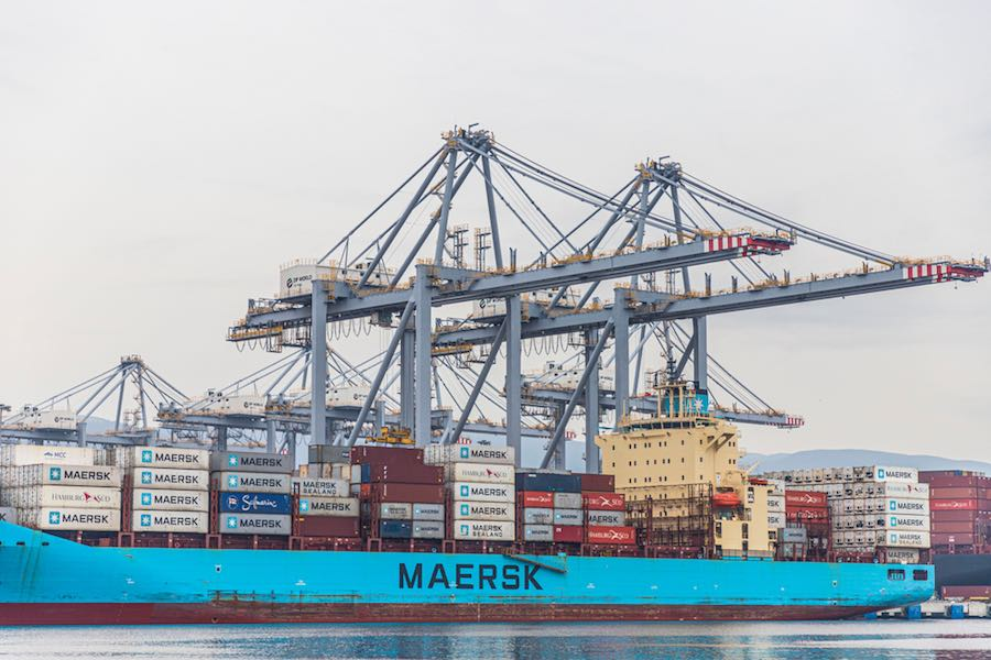 Containers Port Shipping