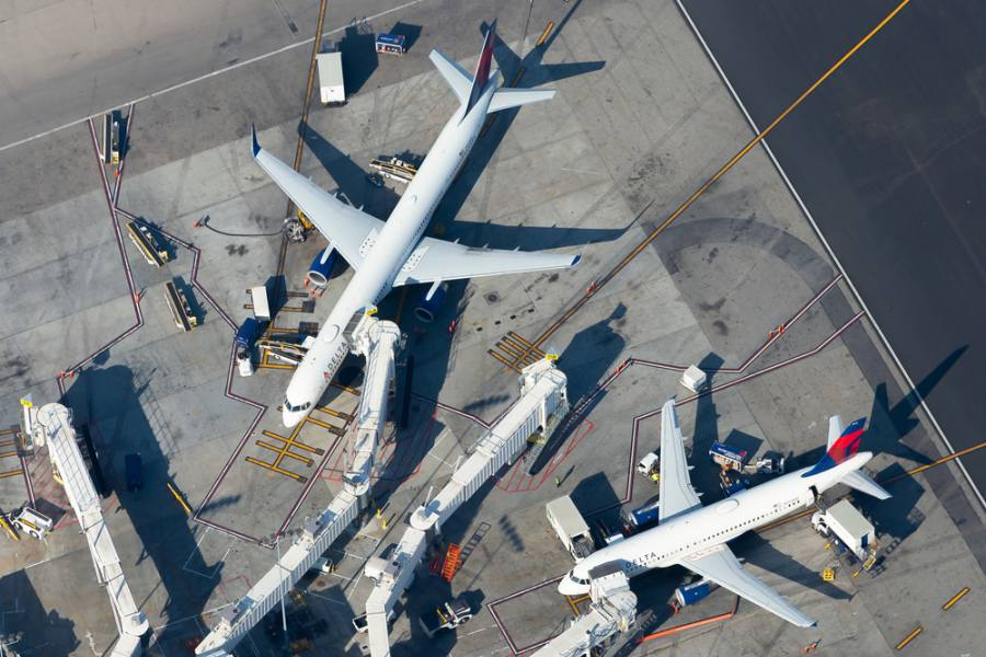 Delta Airlines at LAX airport