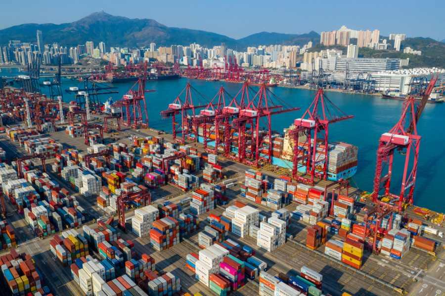 Container Port Hong Kong