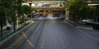 Bangkok Thailand COVID-19 Empty Road