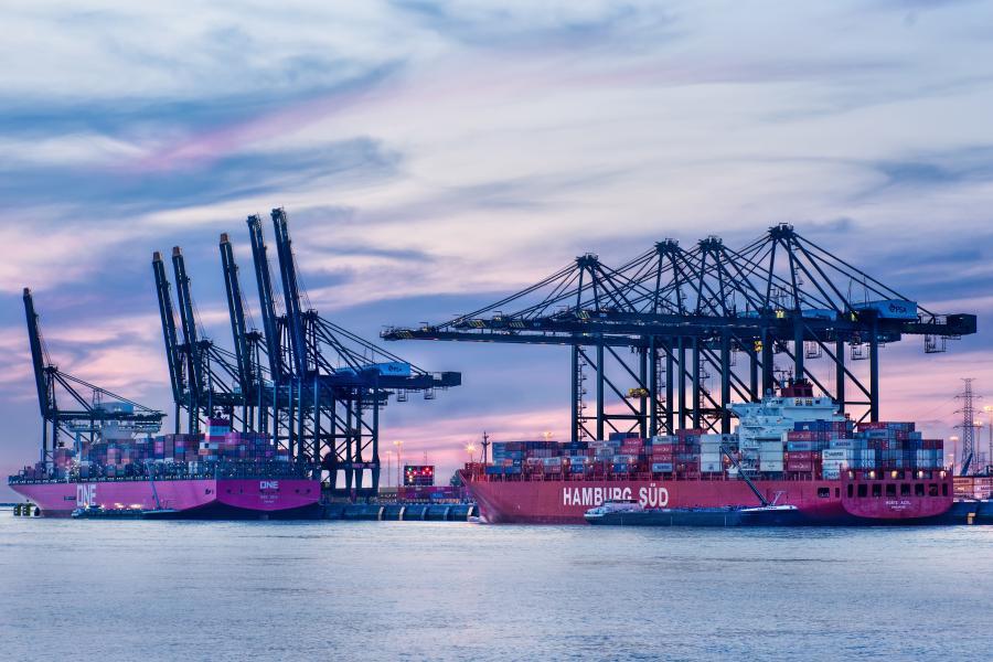 Large container Port of Antwerp Belgium