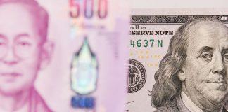 US dollar Thai Baht ดออลาร์ เงินบาท