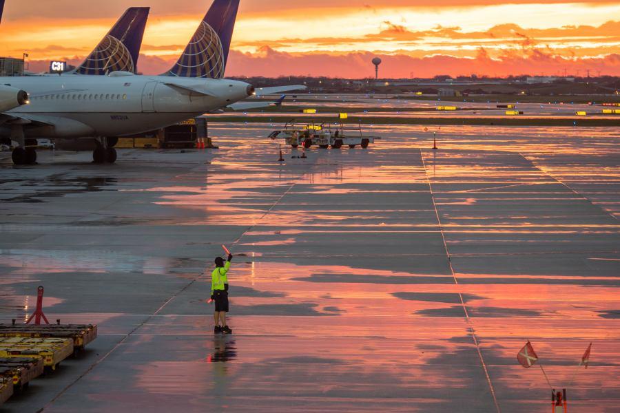 Airport Sunset สนามบิน