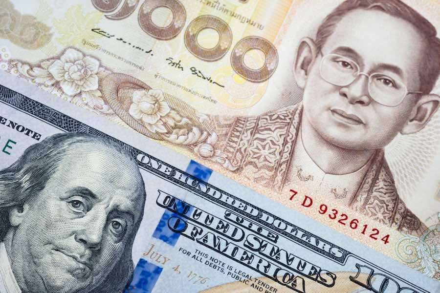 Thai Baht US dollar เงินบาท ดอลลาร์สหรัฐ