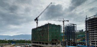 China Unfinished Building อาคาร ก่อสร้าง จีน