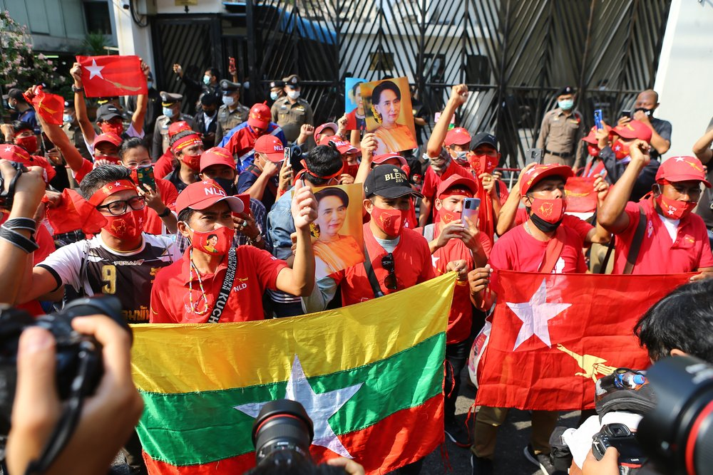 protest Myanmar coup เมียนมา